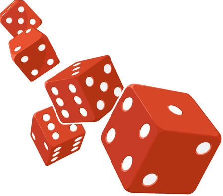 Dice Rolling with White Background