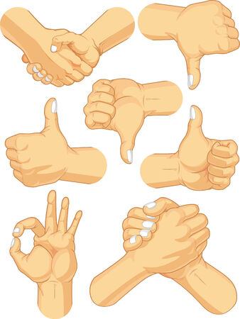 Hand Sign Collection - Business Gestures Vector