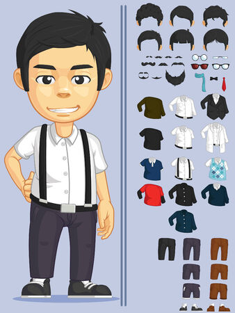 young man jeans: Man Customizable Character