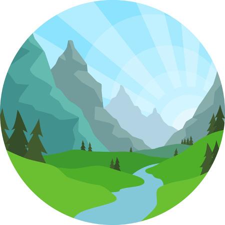 mountain view: Mountain View Background
