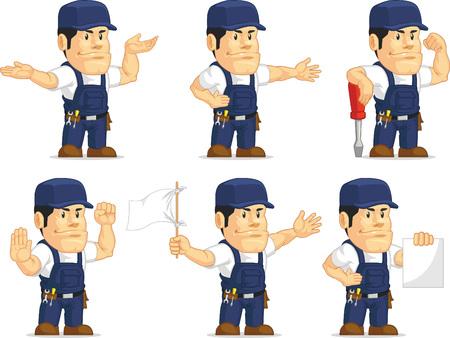 Strong Mechanic Mascot 4 Vector