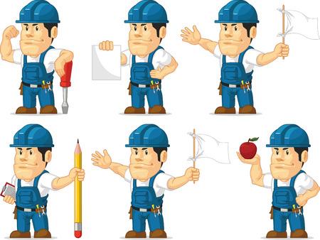 customize: Strong Technician Mascot 8 Illustration