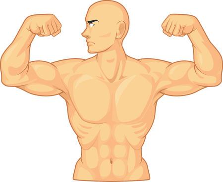 forearms: Bodybuilder Flexing Muscles
