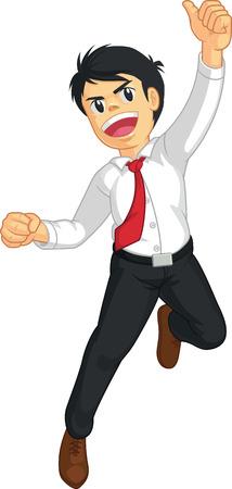 energetic people: Businessman or Office Worker Jumping in Joy