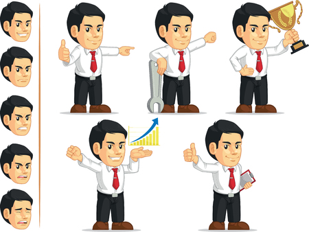 Office Worker Customizable Mascot 7 Vector