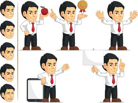 customizable: Office Worker Customizable Mascot 11 Illustration