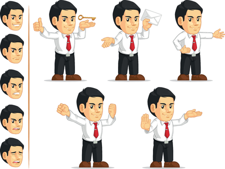 customizable: Office Worker Customizable Mascot 13 Illustration