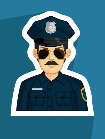 gorra polic�a: Profesi�n - Polic�a Vectores