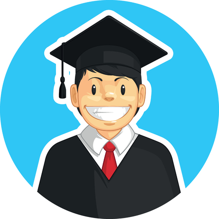 graduacion caricatura: Escuela-Colegio de graduación - Boy