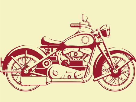 motor race: Silhouet van Old Motorcycle - Profiel bekijken
