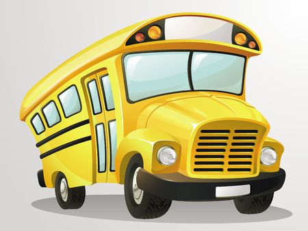 스쿨 버스 벡터 만화 스톡 콘텐츠 - 45786526