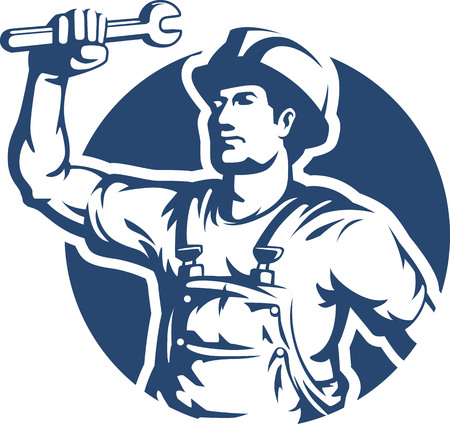 handyman: Technician Silhouette Vector Illustration
