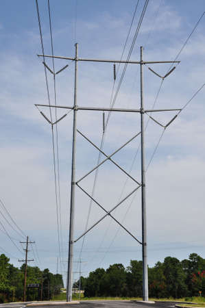 Electrical power tower Imagens