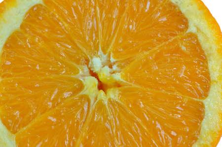 Closeup of a single slice of orange