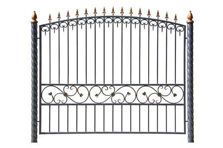 Forged decorative  fence. Isolated over white background. Stock Photo - 7842712