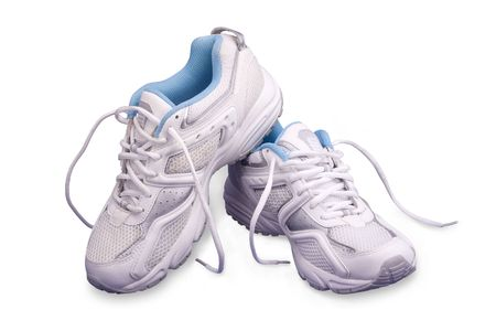 The Footwear for occupation by sport and tourism.  On white background