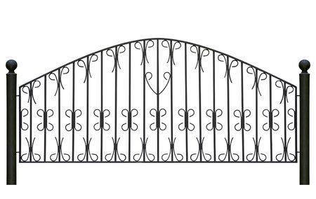 Forged decorative  fence. Isolated over white background. Stock Photo - 8054943
