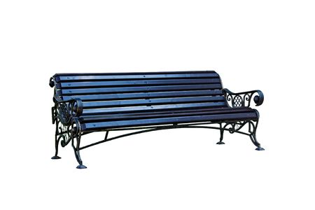 Forged decorative bench. Isolated over white background. Stock Photo - 8054951