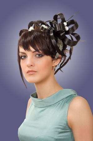 Hairdress of the woman for an evening meeting Stock Photo - 8117526
