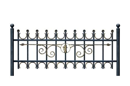verjas: Original hab�a forjado valla decorativo. Aislados sobre fondo blanco.