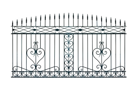 Old-time forged decorative gates. Isolated over white background. Stock Photo - 9579615