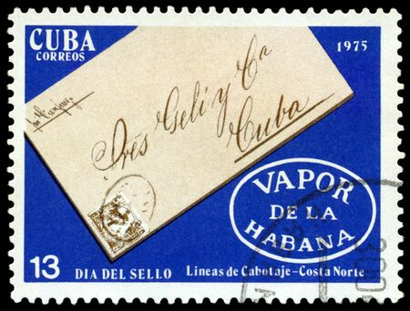 CUBA - CIRCA 1975: A Stamp printed in the Cuba shows various covers  envelope, circa 1975