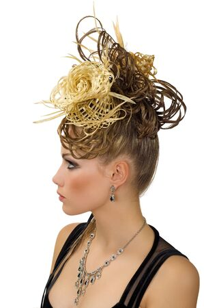 Coiffure of the woman for evening ball photo