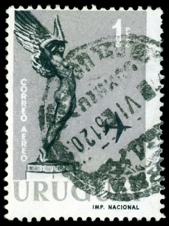 URUGUAY - CIRCA 1959  A stamp printed in the Uruguay shows  statue
