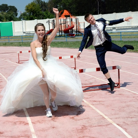 The Bridegroom and bride overcome the barriers  Symbolizes overcome  obstacle in lifes