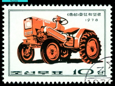 DPR KOREA - CIRCA 1978  a stamp printed by  DPR Korea , shows   Chungsong  tractor, Farm  Machines, circa 1978