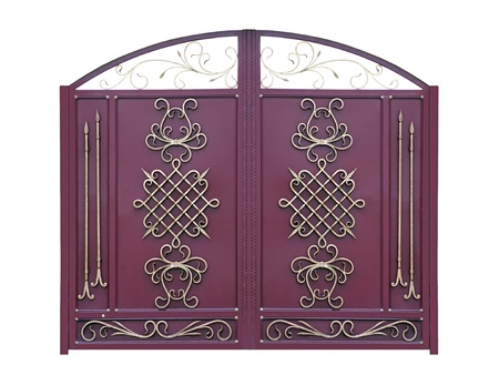 Decorative Gates in Old-time stiletto. Isolated over white background.