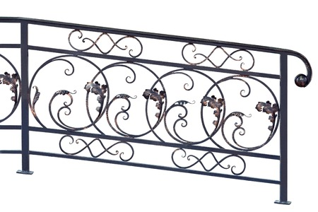 Decorative  banisters  in old  stiletto  Isolated over white background  photo