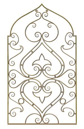 Decorative  lattice. Isolated over white background.