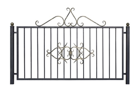 Decorative fence for the park and at home. Isolated over white background. photo