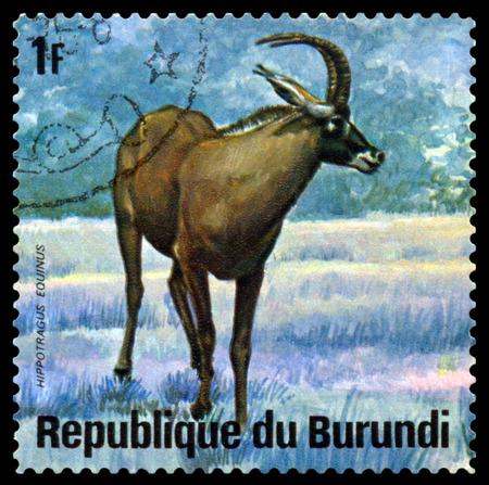 burundi: BURUNDI - CIRCA 1975: A stamp printed by Burundi shows  Niala, Animals Burundi, circa 1975.
