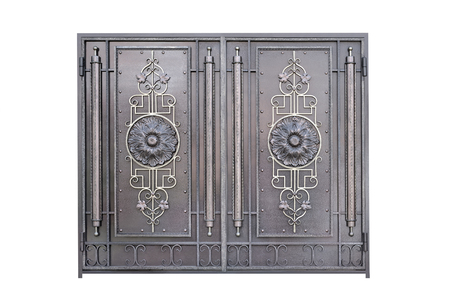 metal gate: Decorative metal gate. Isolated over white background.