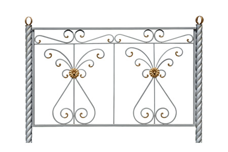 rosettes: Decorative fence with rosettes in an antique style. Isolated over white background.