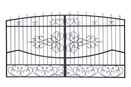 light gates with ornament. Isolated over white background.