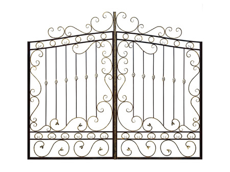 Decorative gates with ornament. Isolated over white background.
