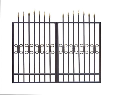 Modern simple gates. Isolated over white background.