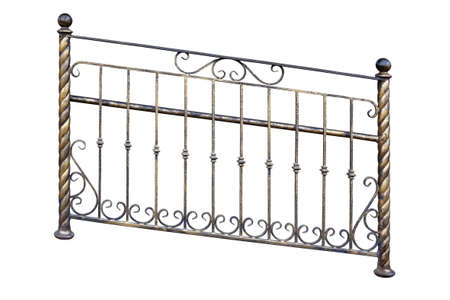 Wrought iron railings for disabled people. Isolated on a white background.