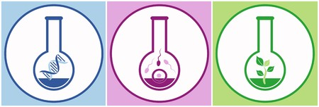 in vitro fertilization: dna, sperms, egg and plant in test tube