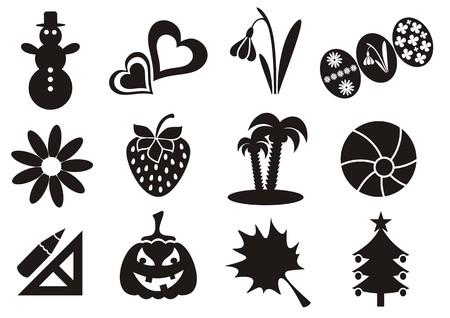 conjunto de iconos de calendario mes