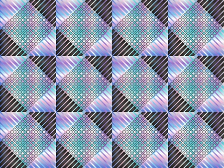 Abstract vector seamless pattern with squares and lines Illustration