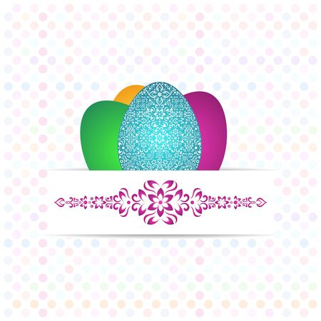 Vector easter background with colorful polka dot pattern Vector