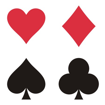 playing card symbols: Conjunto de s�mbolos de la tarjeta de juego en el fondo blanco Vectores