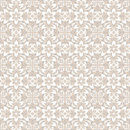 Light colored abstract vector floral seamless pattern Illustration