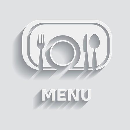 White and grey vector modern restaurant menu design