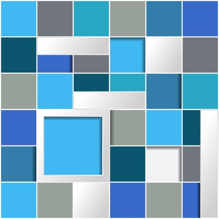 larger: Infographic background with blue squares and larger frame