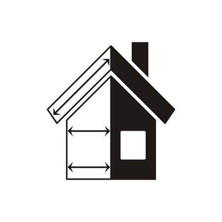 plan maison: Vecteur noir plan de la maison ic�ne sur fond blanc